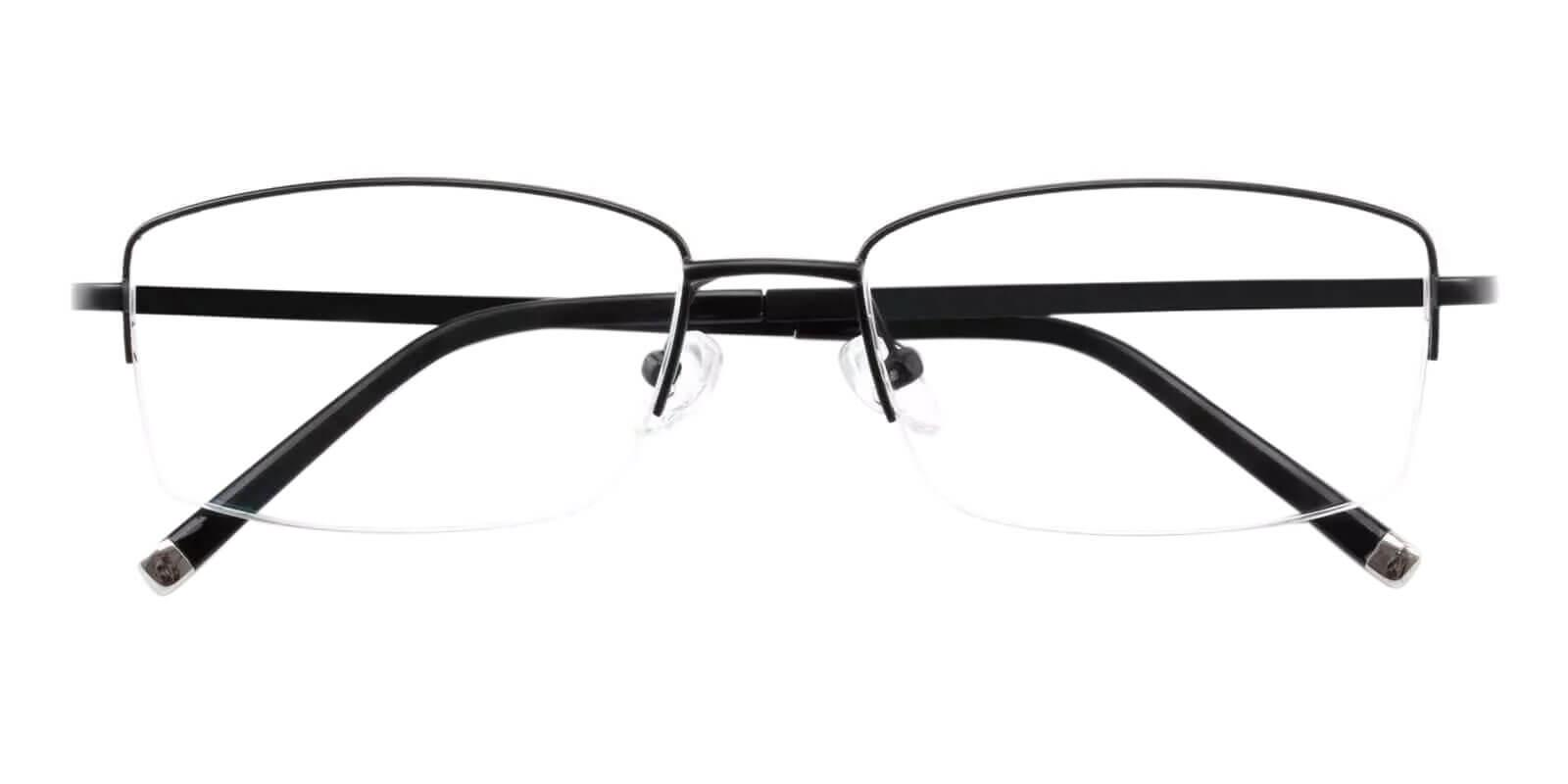 Noah Black Titanium Eyeglasses , NosePads Frames from ABBE Glasses
