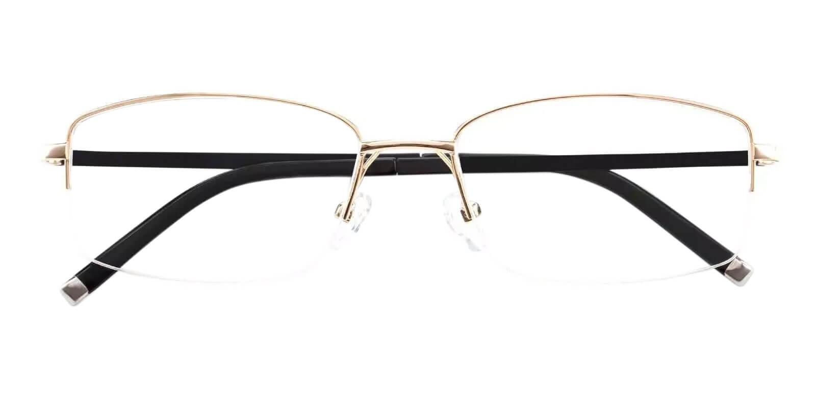 Noah Gold Titanium Eyeglasses , NosePads Frames from ABBE Glasses