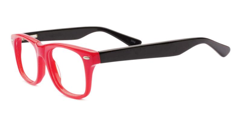 Red Kids-Pomona - Acetate Eyeglasses , UniversalBridgeFit