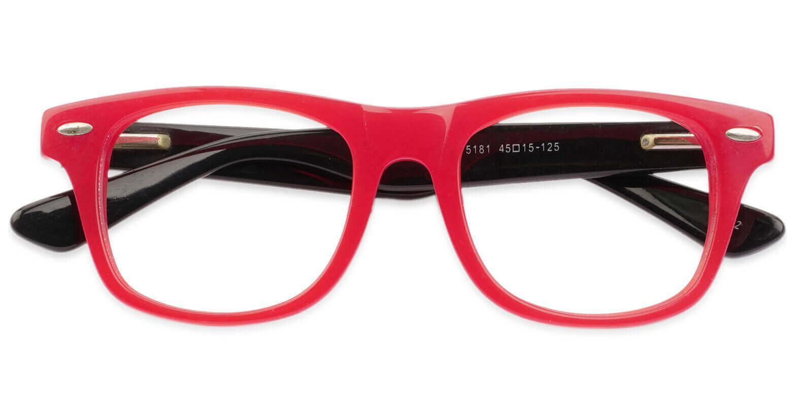 Kids-Pomona Red Acetate Eyeglasses , UniversalBridgeFit Frames from ABBE Glasses