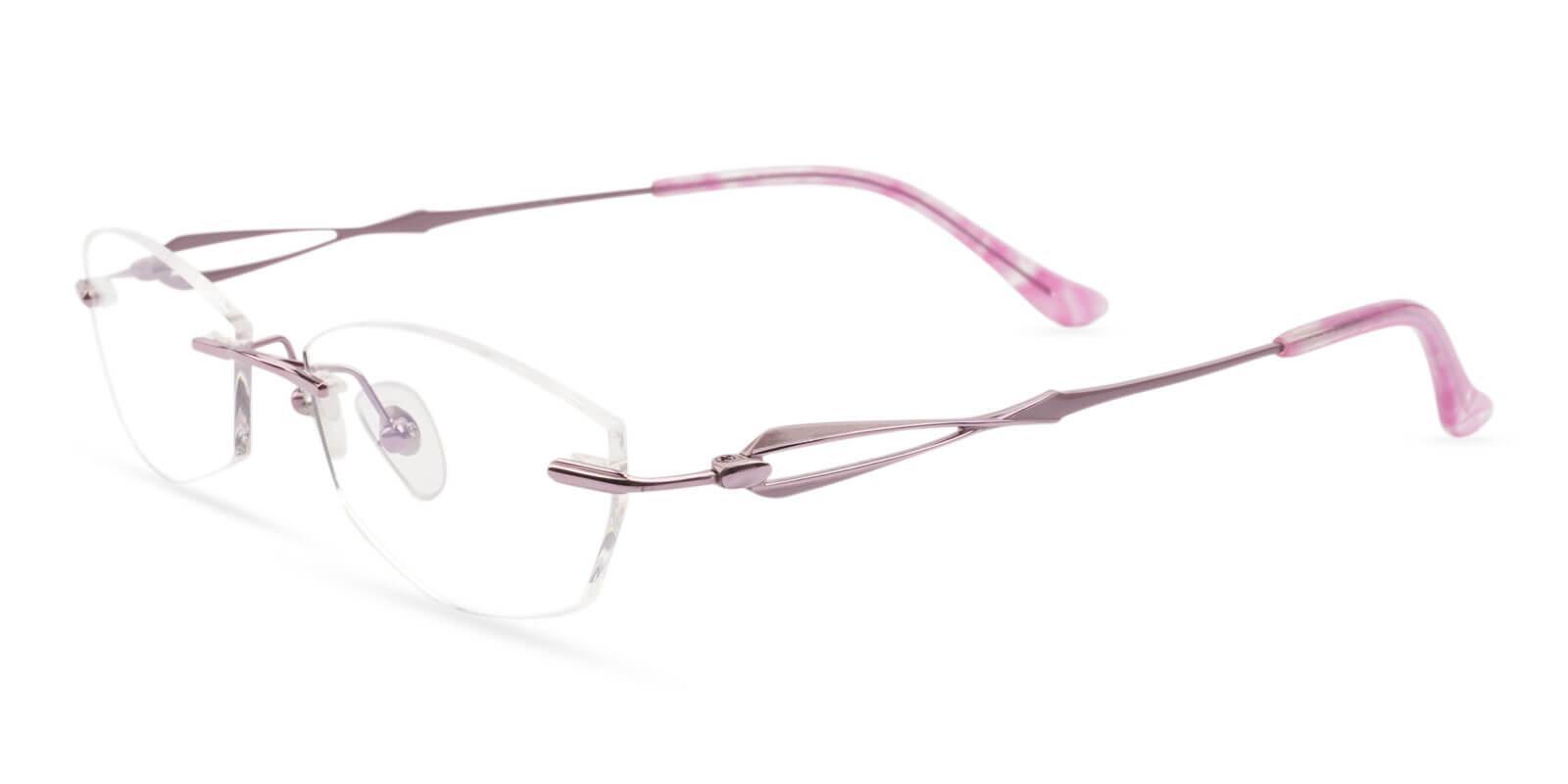 Emma Pink Titanium NosePads , Eyeglasses Frames from ABBE Glasses