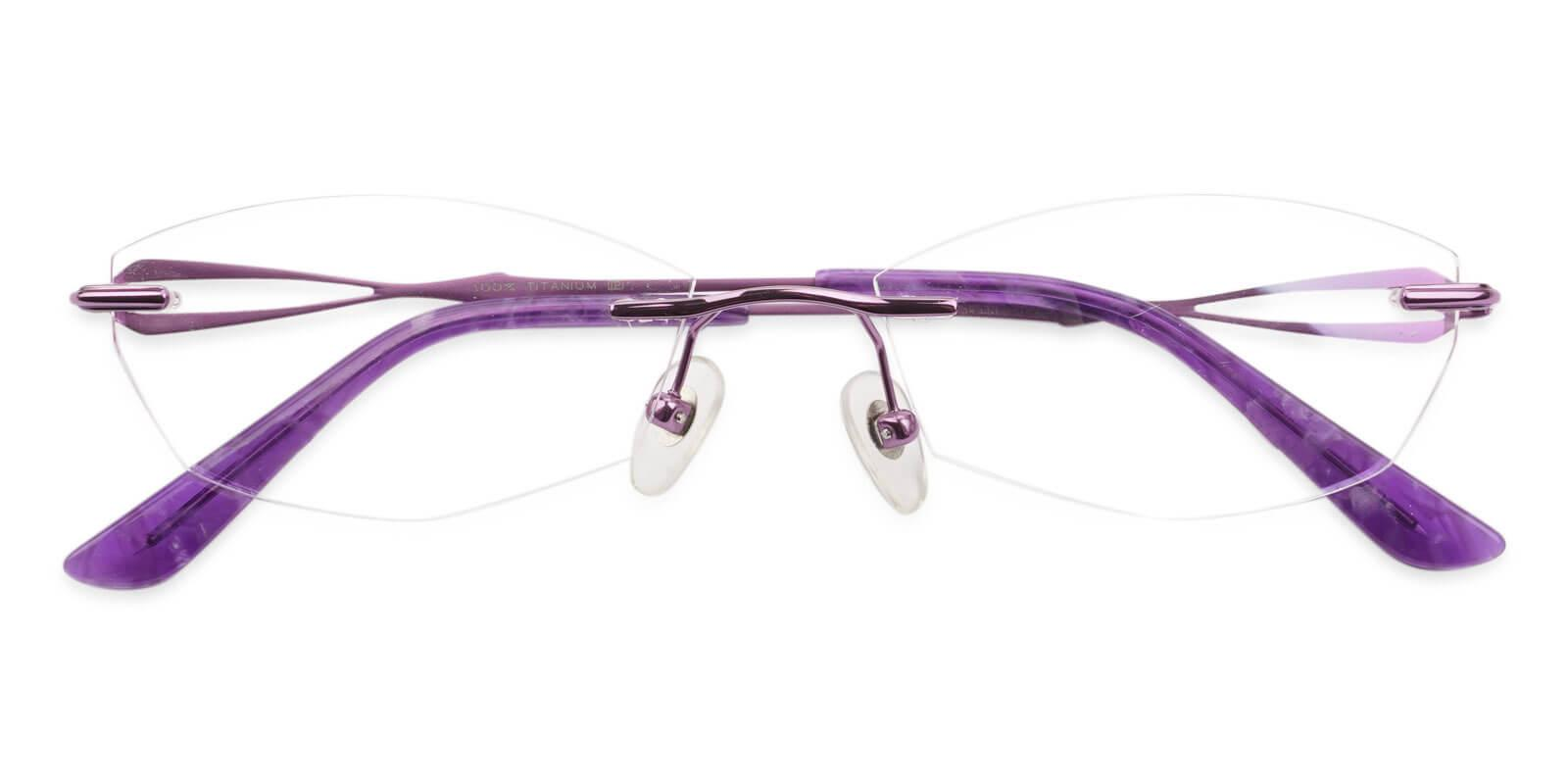 Emma Purple Titanium NosePads , Eyeglasses Frames from ABBE Glasses