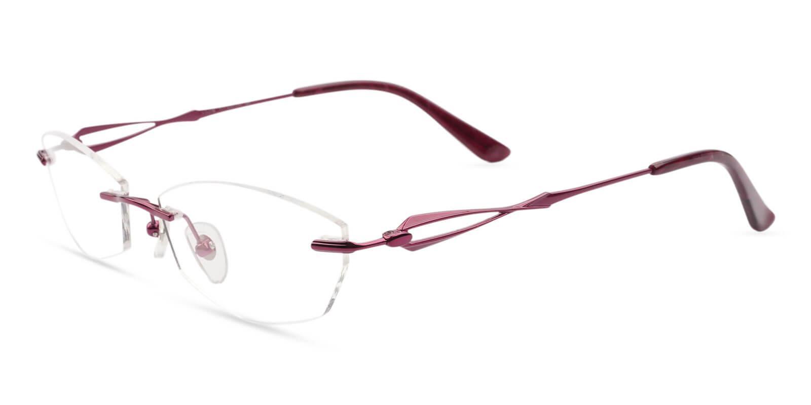Emma Red Titanium Eyeglasses , NosePads Frames from ABBE Glasses