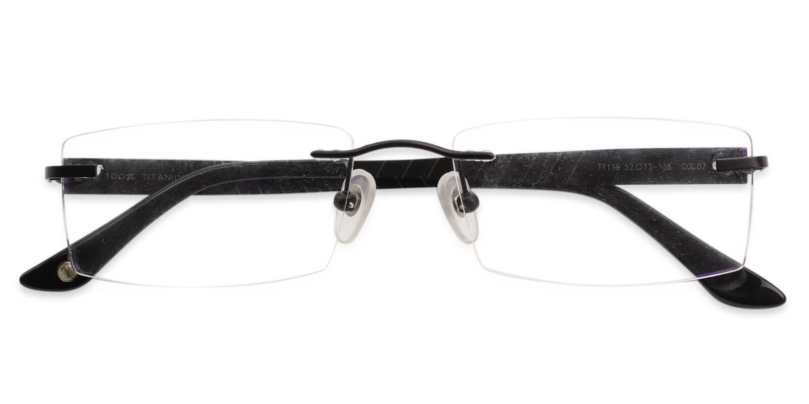 Bentonite Black Titanium Eyeglasses , NosePads Frames from ABBE Glasses