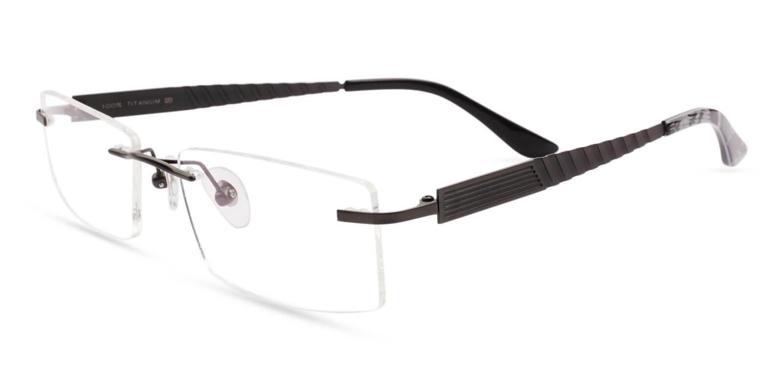 Bentonite Gun Titanium Eyeglasses , NosePads Frames from ABBE Glasses