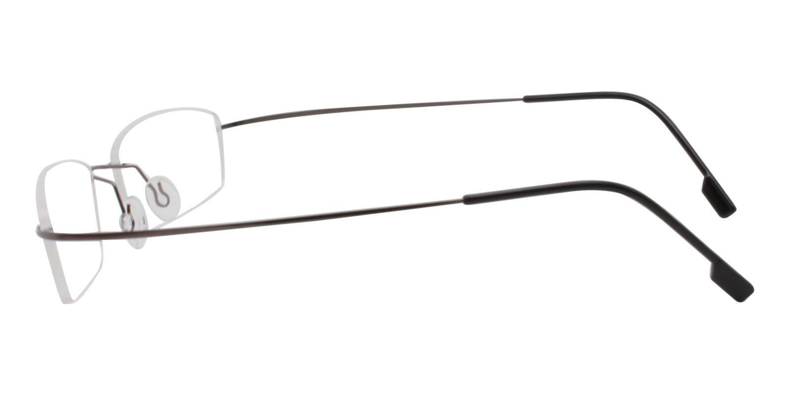 Olivia Gun Metal , Memory Eyeglasses , NosePads Frames from ABBE Glasses