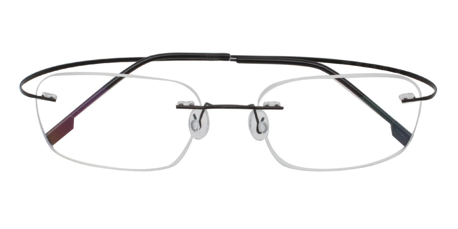 Elijah Black Metal NosePads , Eyeglasses Frames from ABBE Glasses