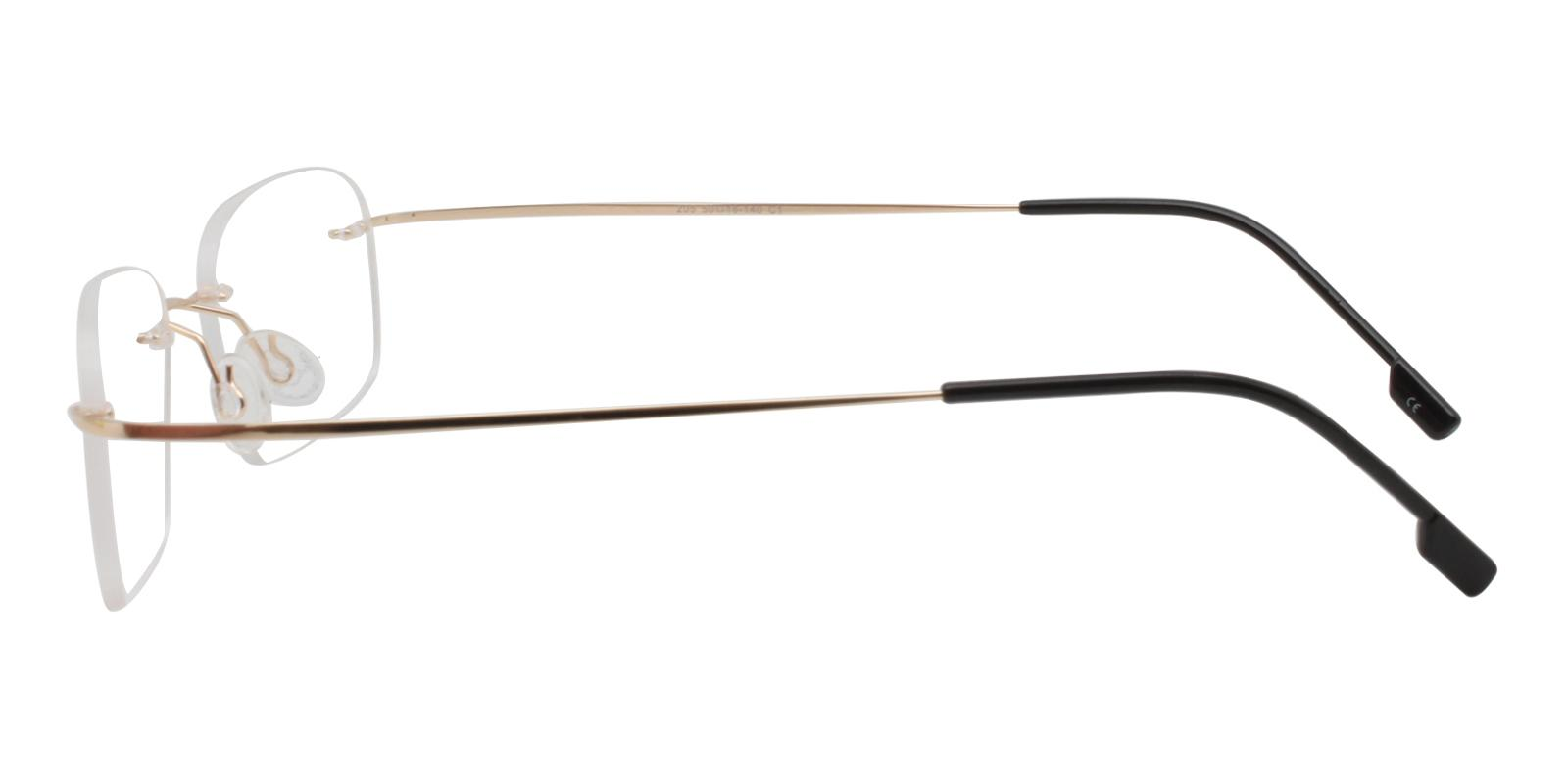 Elijah Gold Metal Eyeglasses , NosePads Frames from ABBE Glasses