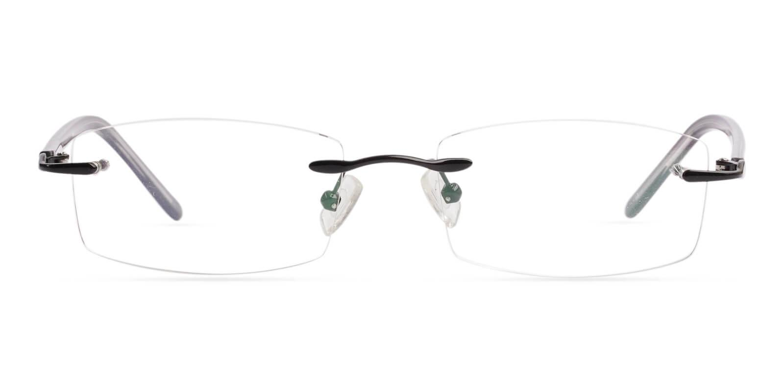 Lucas Black Metal NosePads , Eyeglasses Frames from ABBE Glasses