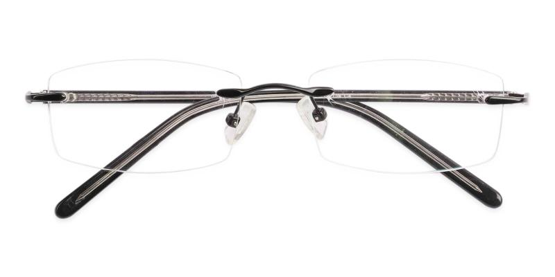 Black Lucas - Metal NosePads , Eyeglasses