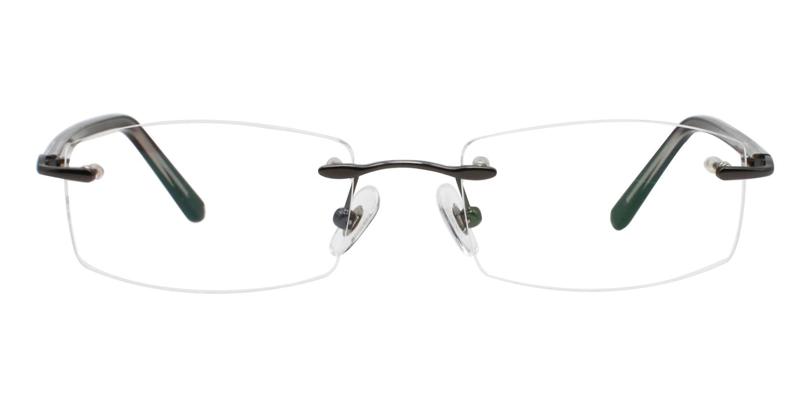 Lucas Gun Metal Eyeglasses , NosePads Frames from ABBE Glasses