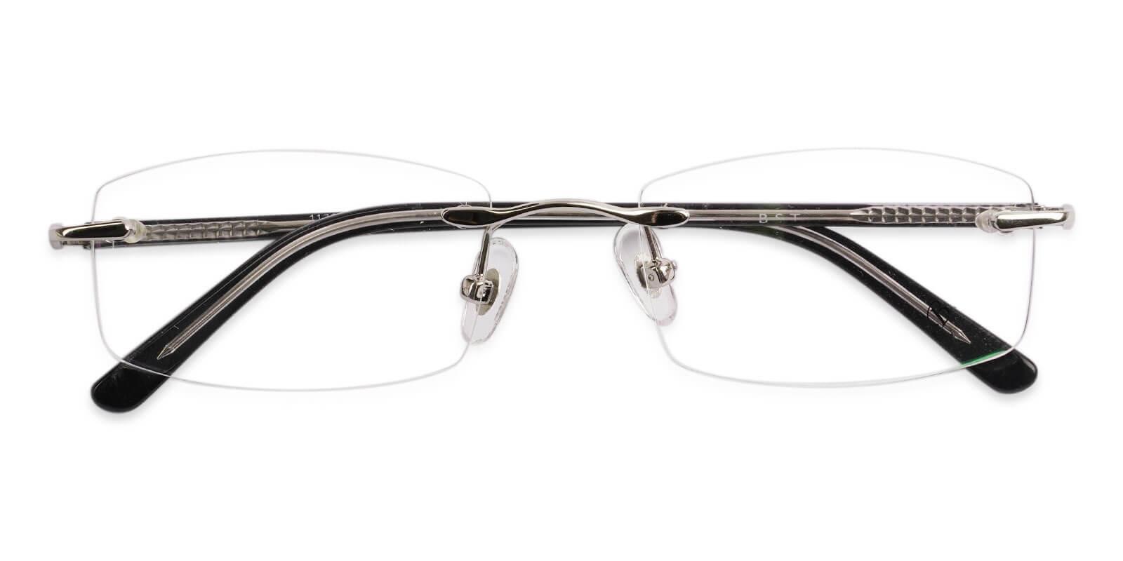 Lucas Silver Metal NosePads , Eyeglasses Frames from ABBE Glasses
