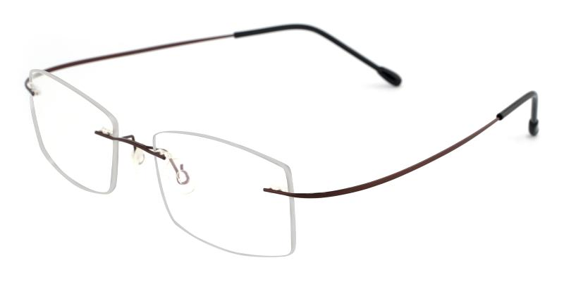 Brown Pluto - Metal , Memory Eyeglasses , NosePads