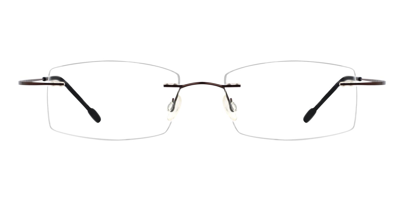 Pluto Brown Metal , Memory Eyeglasses , NosePads Frames from ABBE Glasses
