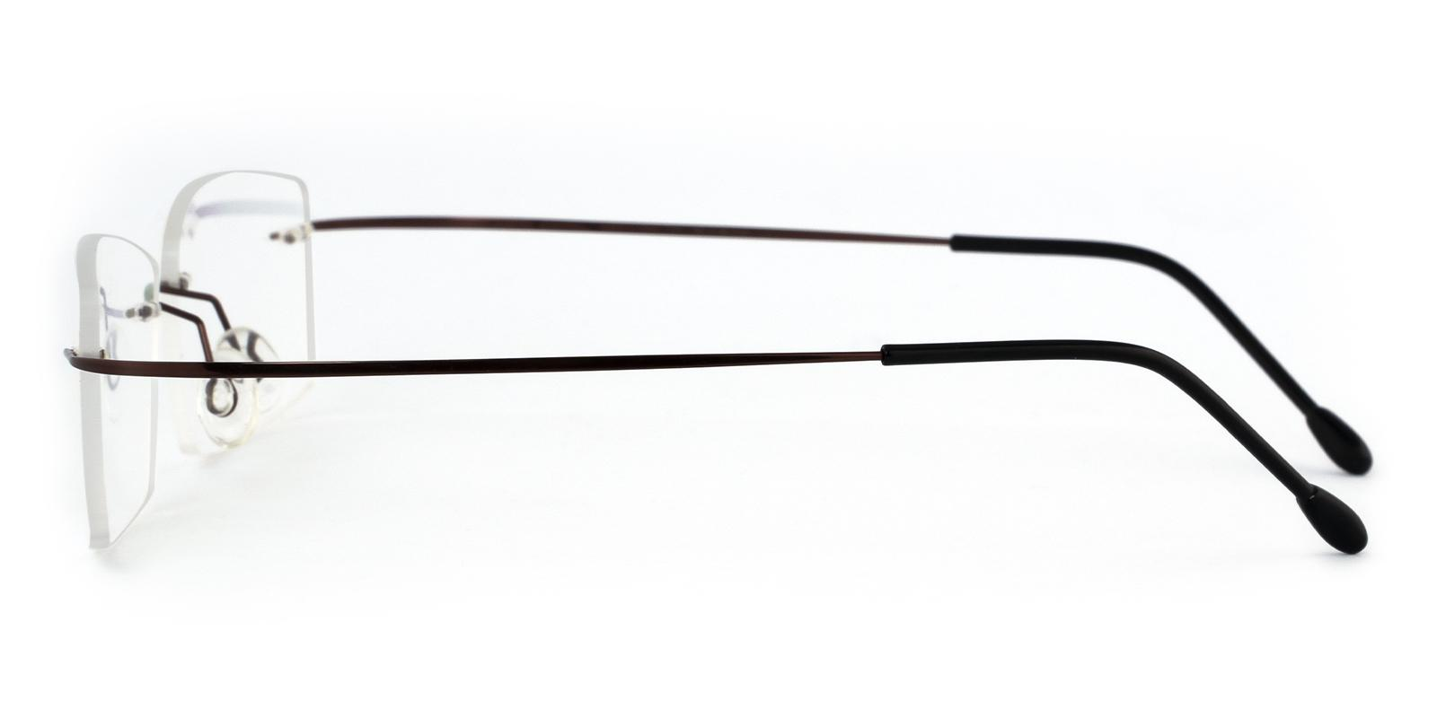 Pluto Brown Metal , Memory Eyeglasses , NosePads Frames from ABBE Glasses
