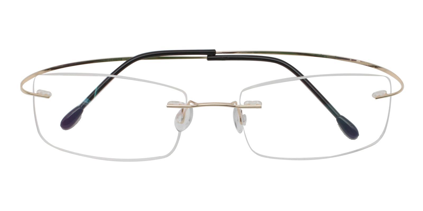 Pluto Gold Metal , Memory Eyeglasses , NosePads Frames from ABBE Glasses