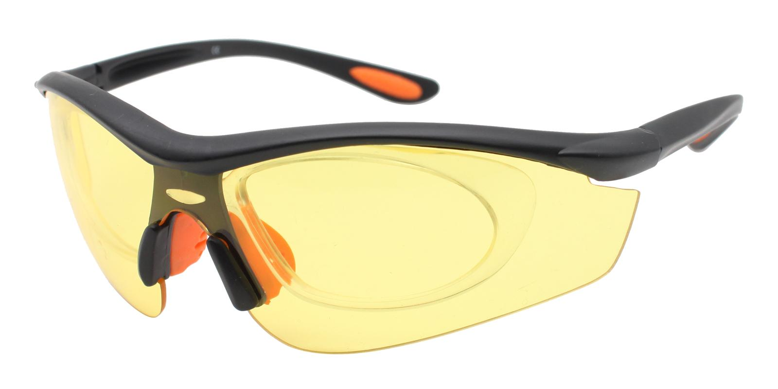 Gustavus Yellow Plastic SportsGlasses Frames from ABBE Glasses