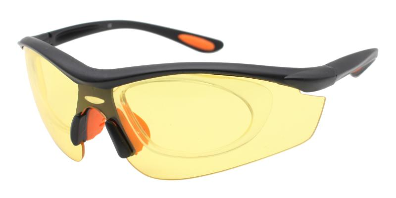 Yellow Gustavus - Plastic Sports Glasses