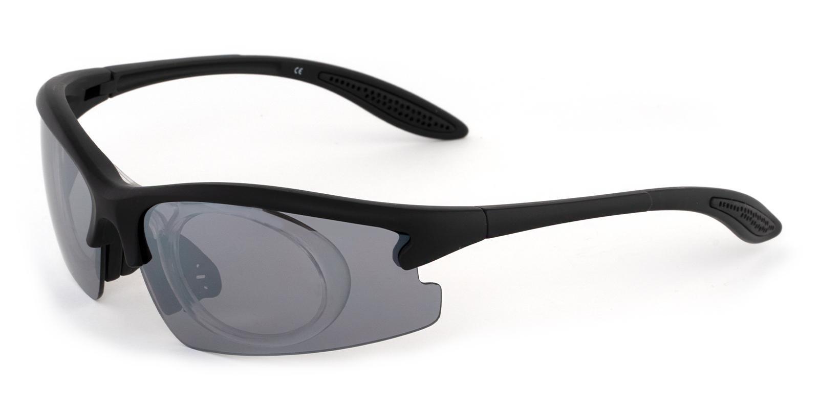 Jonesboro Black Plastic SportsGlasses Frames from ABBE Glasses