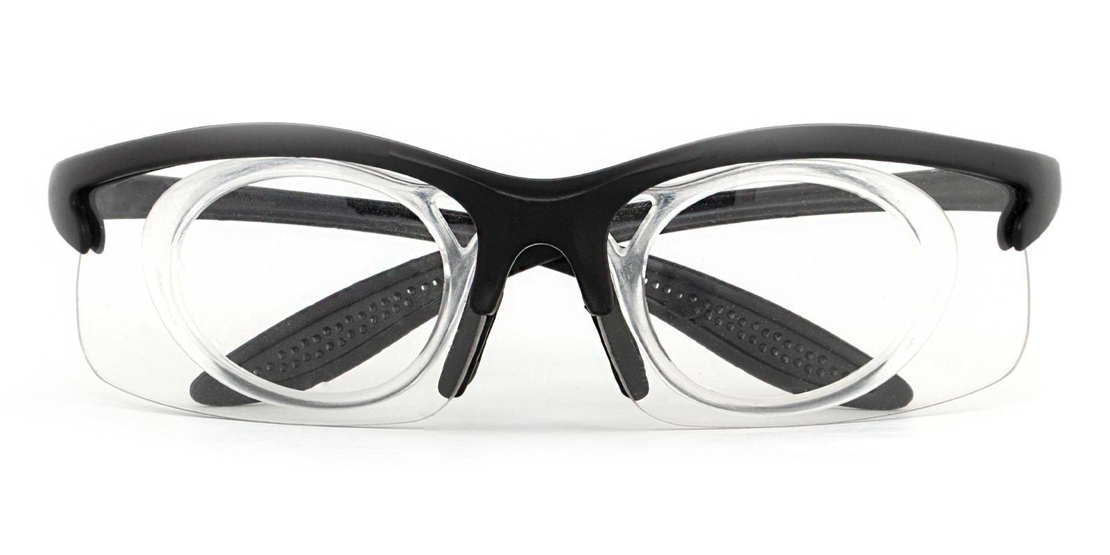Guthrie Center Black Plastic SportsGlasses Frames from ABBE Glasses