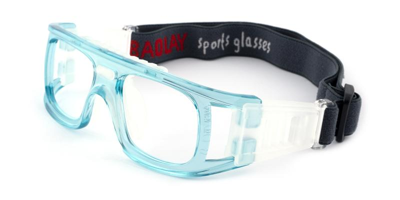 Blue Lock Springs - Plastic Sports Glasses