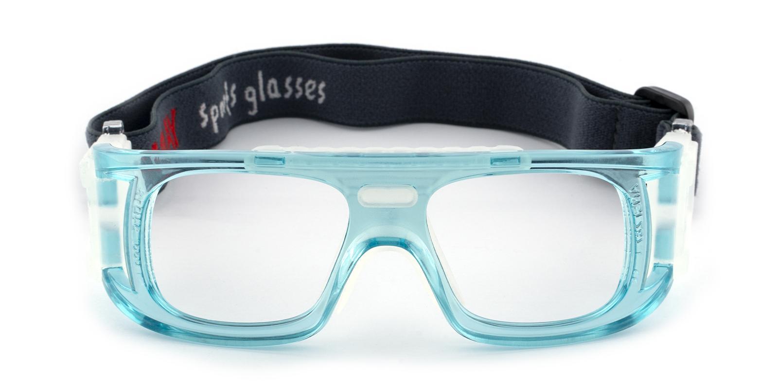 Lock Springs Blue Plastic SportsGlasses Frames from ABBE Glasses