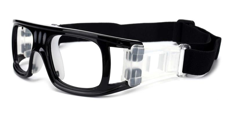 Black Hallettsville - Plastic Sports Glasses
