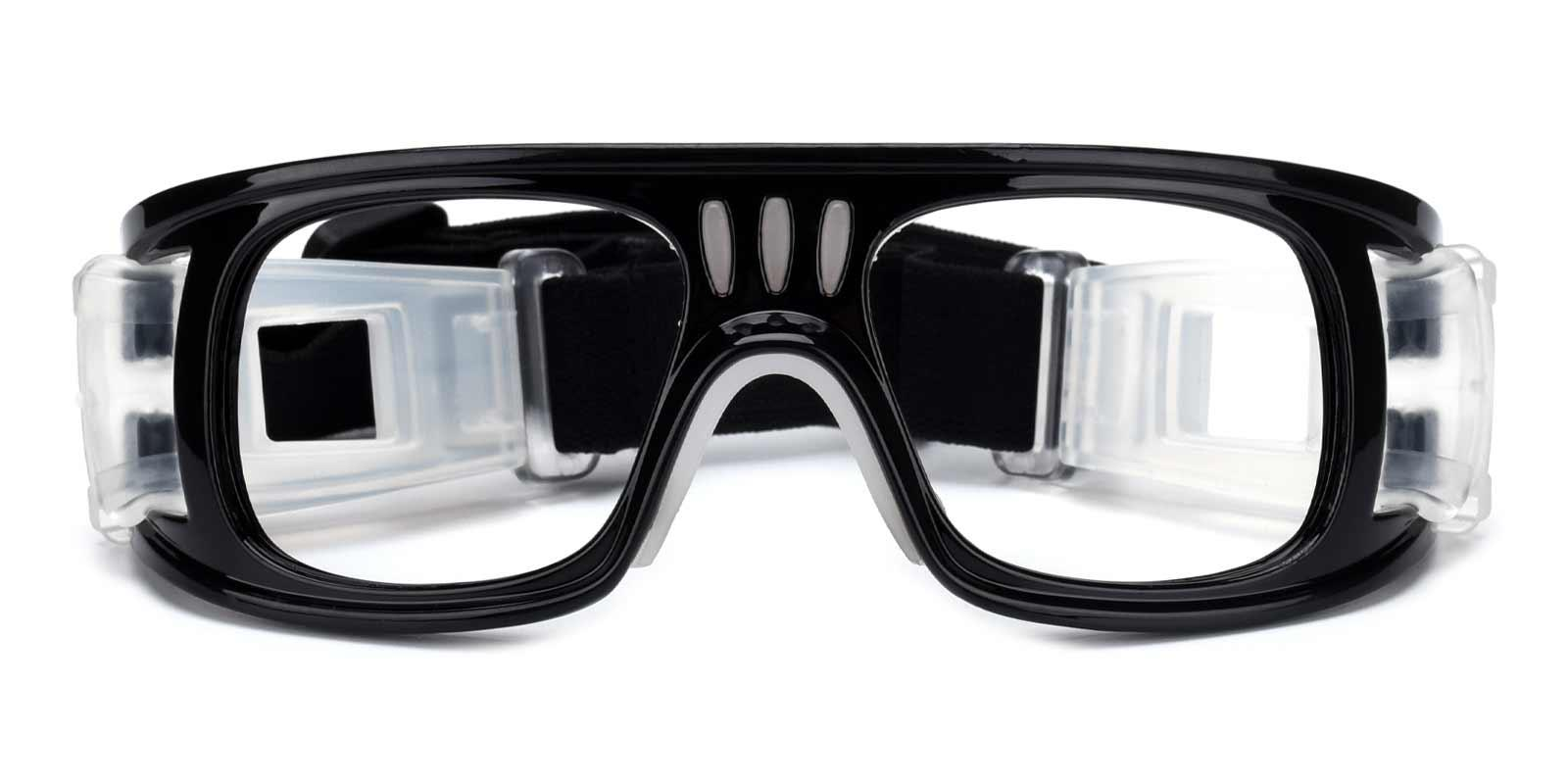 Hallettsville Black Plastic SportsGlasses Frames from ABBE Glasses