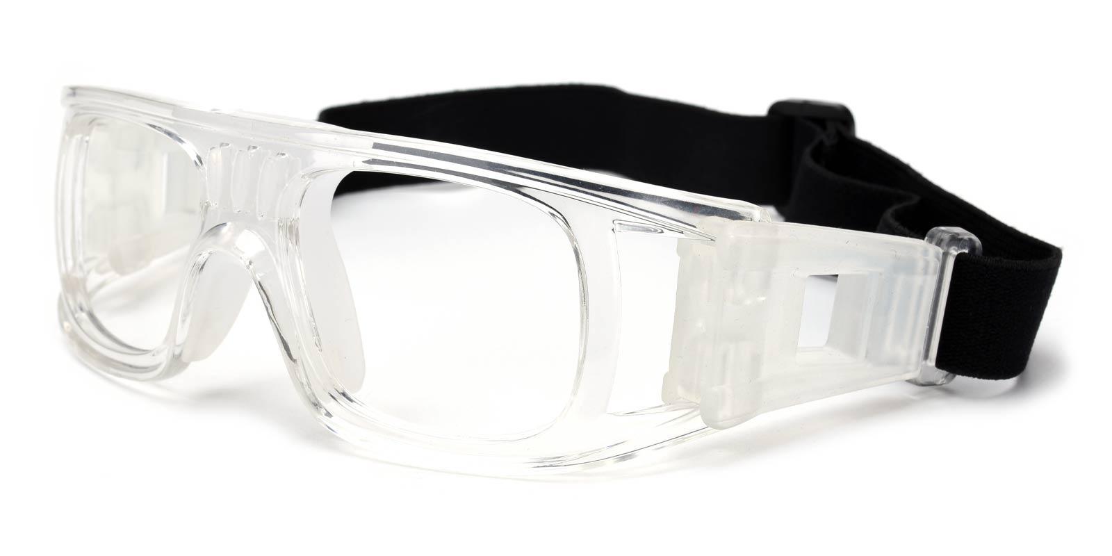 Hallettsville Translucent Plastic SportsGlasses Frames from ABBE Glasses
