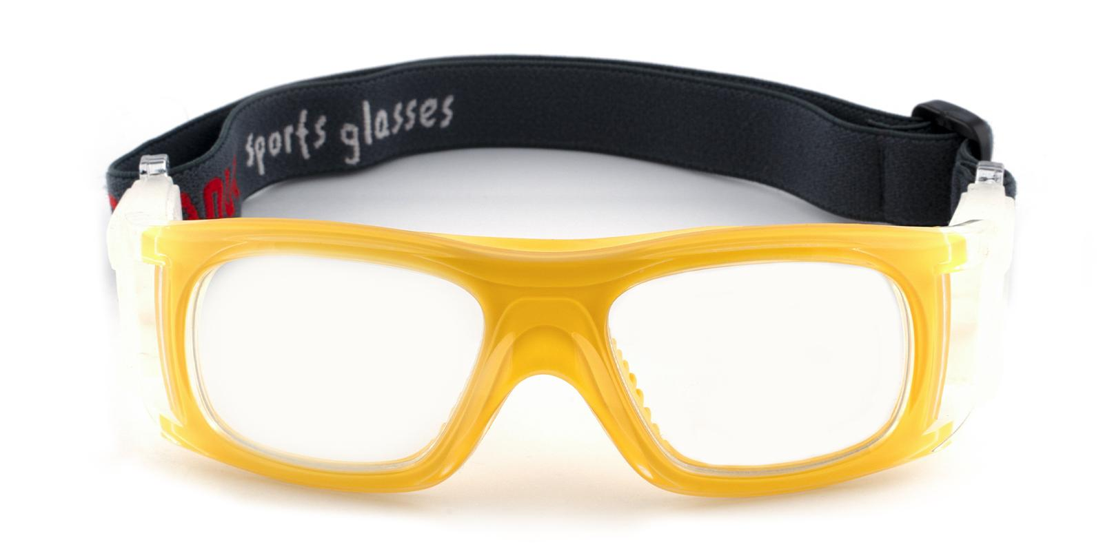 Christopher Yellow Plastic Eyeglasses , SportsGlasses Frames from ABBE Glasses