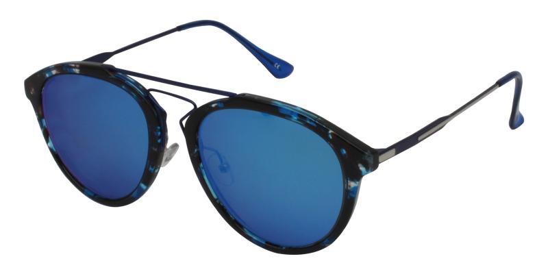 Blue Ava - Metal , Combination , TR NosePads , Sunglasses