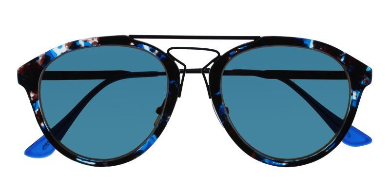 Blue Ava - Metal , Combination , TR NosePads , Sunglasses