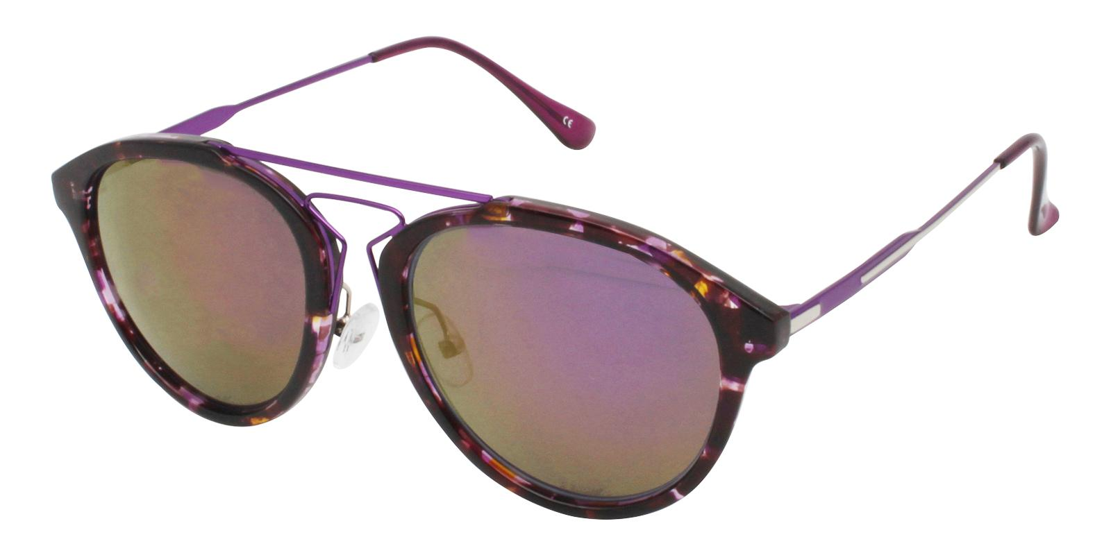 Ava Purple Metal , Combination , TR NosePads , Sunglasses Frames from ABBE Glasses