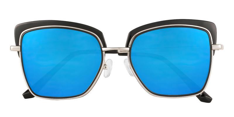 Amelia - Metal , Combination Sunglasses , NosePads
