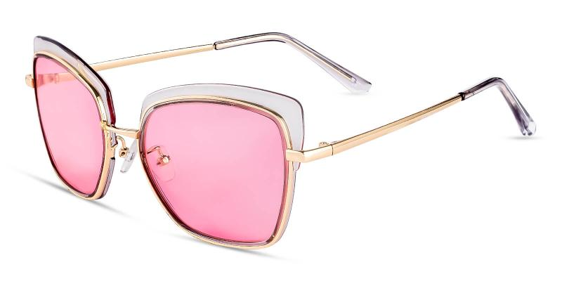 Translucent Amelia - Metal , Combination Sunglasses , NosePads
