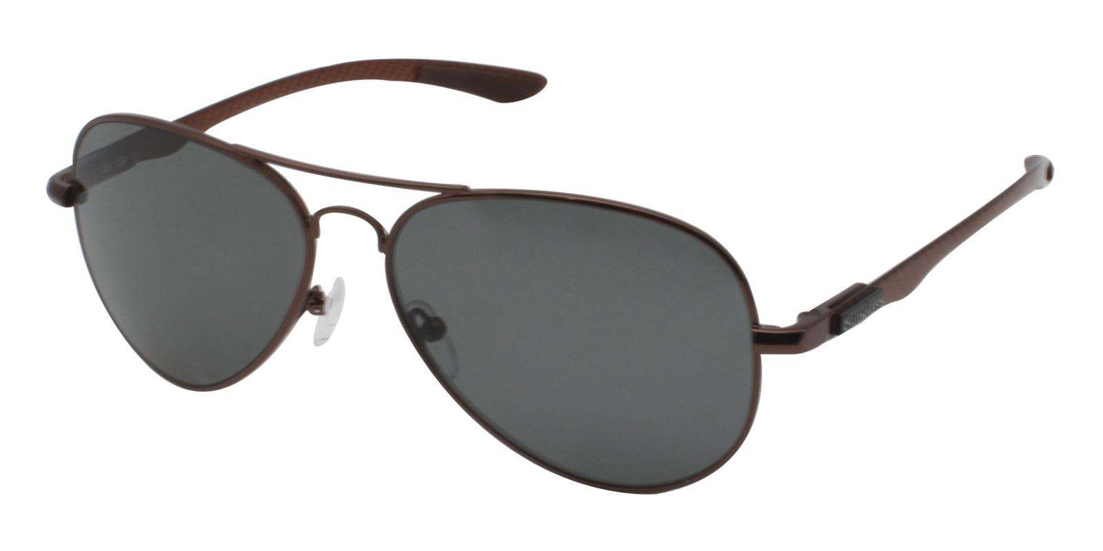 Logan Brown Metal NosePads , Sunglasses Frames from ABBE Glasses