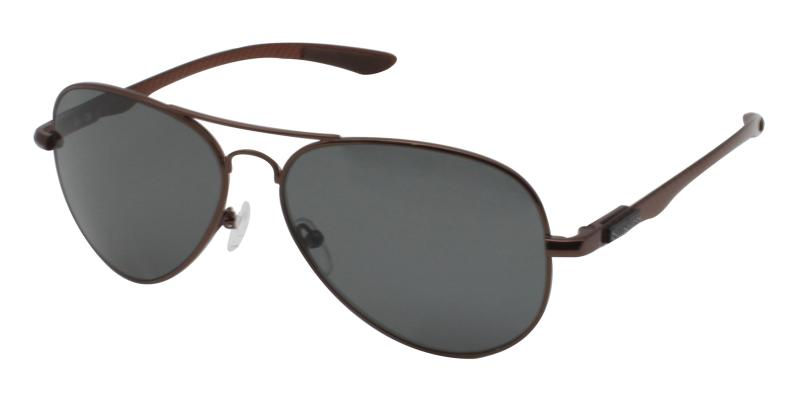 Brown Logan - Metal NosePads , Sunglasses