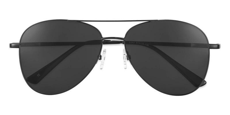 Black Aiden - Metal NosePads , SpringHinges , Sunglasses