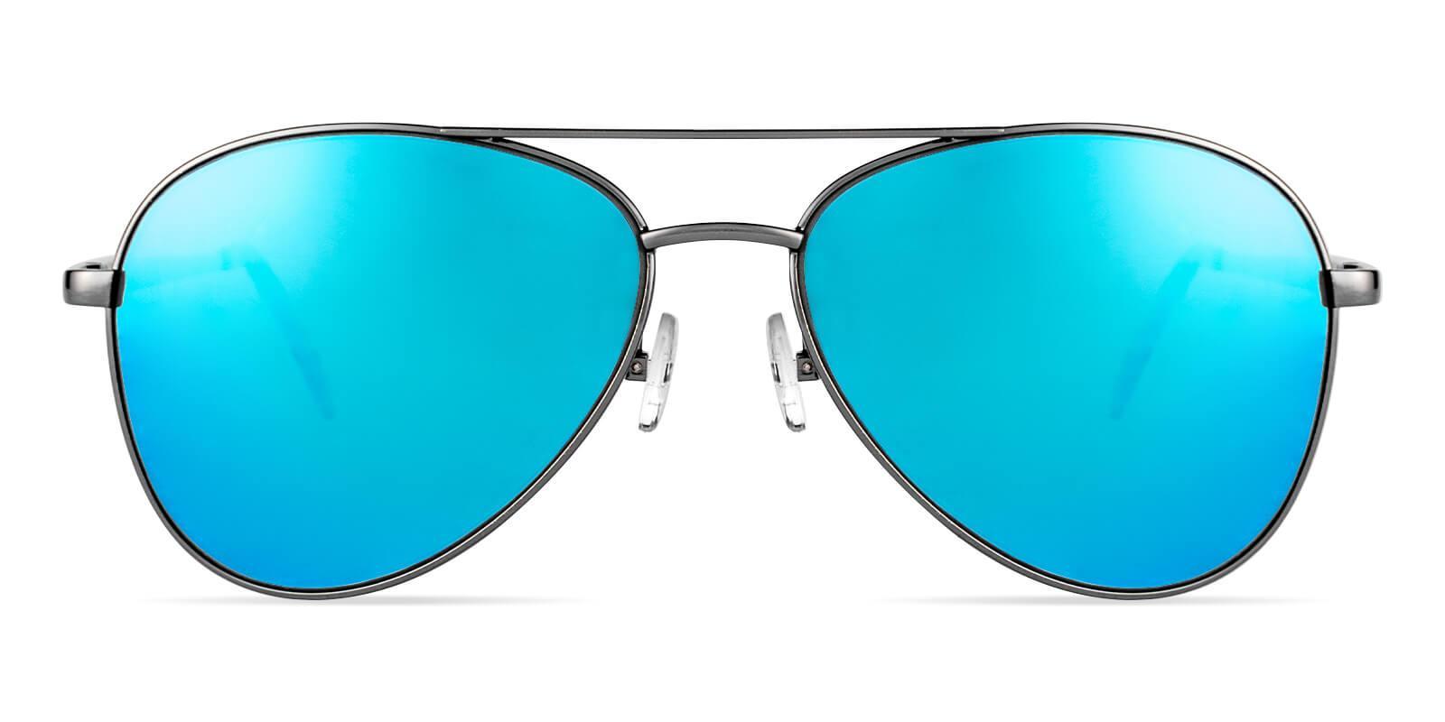 Aiden Gun Metal NosePads , SpringHinges , Sunglasses Frames from ABBE Glasses