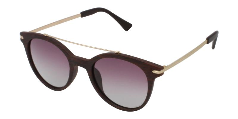 Brown Aria - Metal , Combination , TR UniversalBridgeFit , Sunglasses