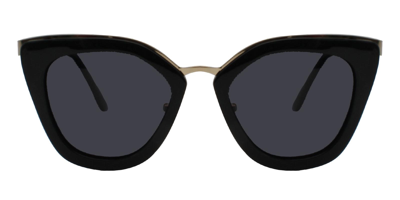 Ella Black Metal , Combination , TR Sunglasses , NosePads Frames from ABBE Glasses