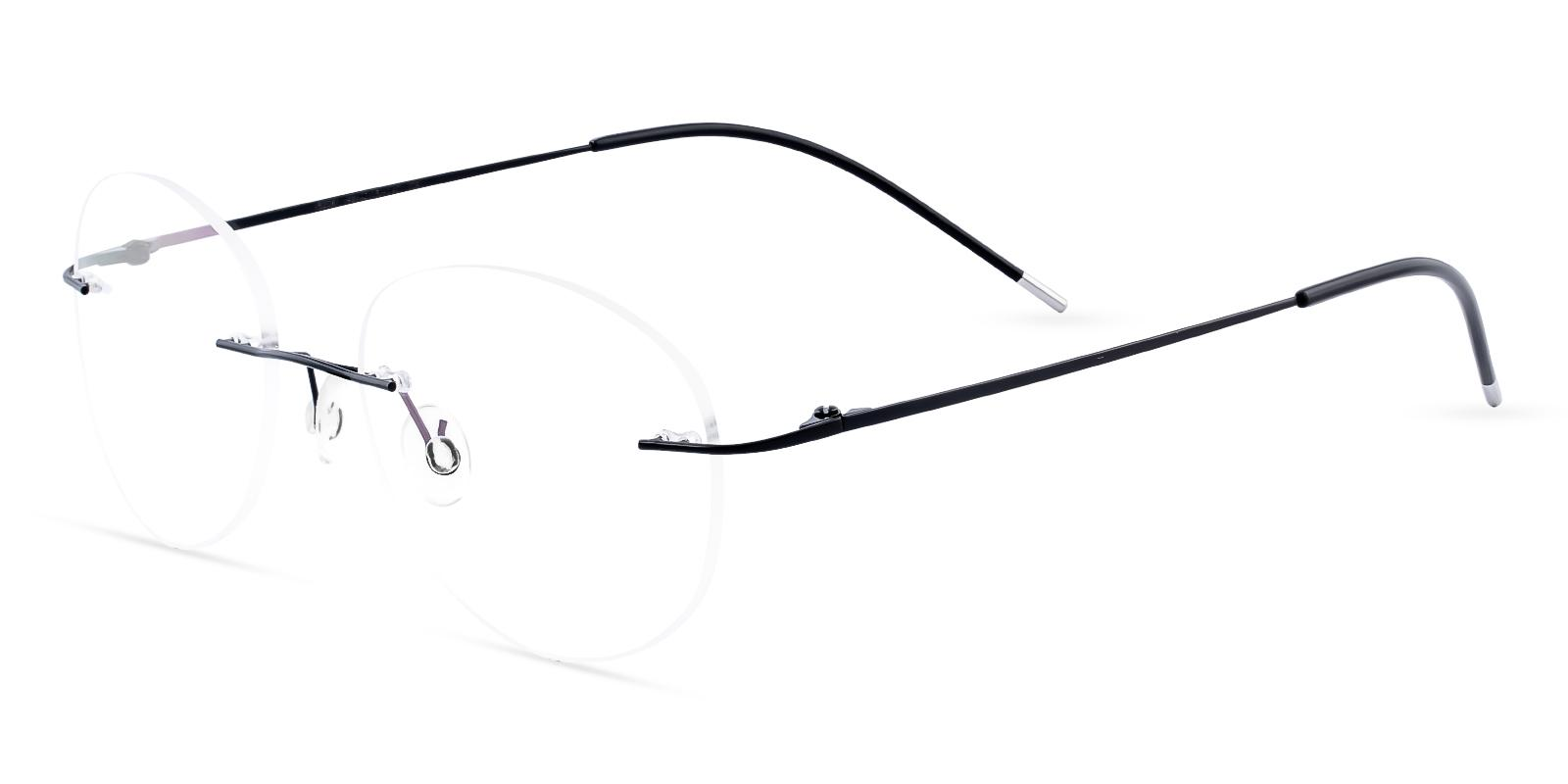 Terrace Park Black Metal Eyeglasses , NosePads Frames from ABBE Glasses