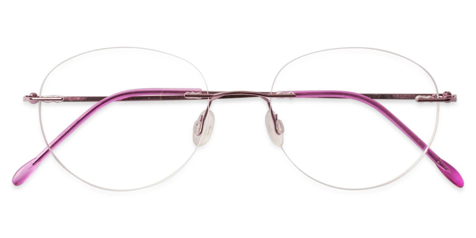 Terrace Park Pink Metal Eyeglasses , NosePads Frames from ABBE Glasses