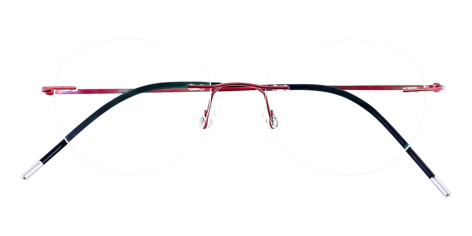 Terrace Park Red Metal Eyeglasses , NosePads Frames from ABBE Glasses