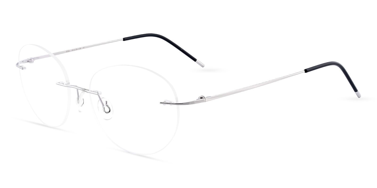 Terrace Park Silver Metal Eyeglasses , NosePads Frames from ABBE Glasses