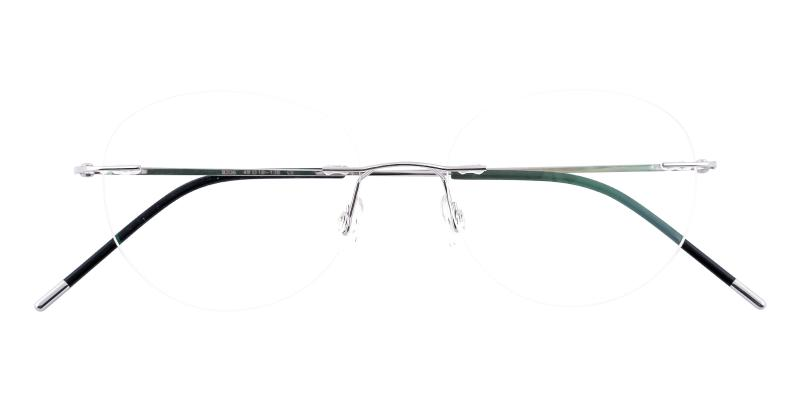 Silver Terrace Park - Metal Eyeglasses , NosePads