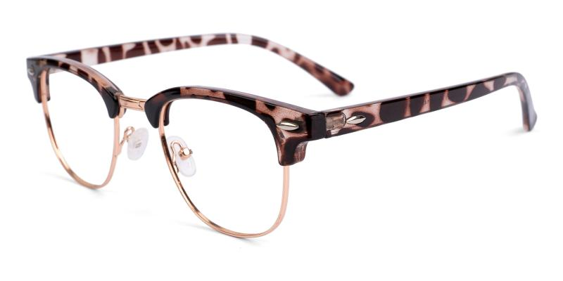 Leopard Iconium - Metal , Combination , Plastic NosePads , Eyeglasses