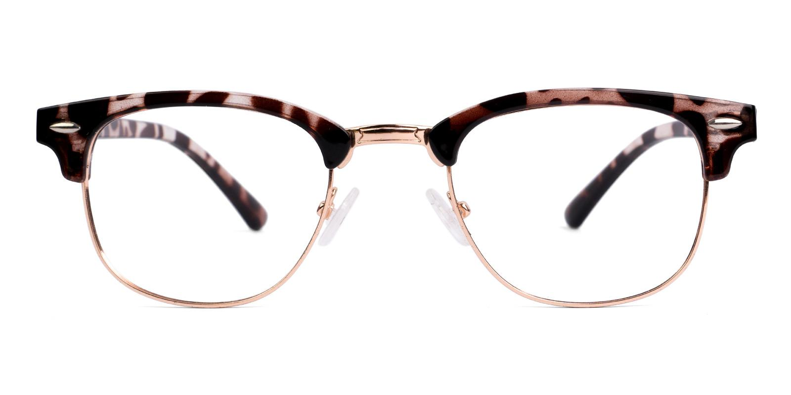 Iconium Leopard Metal , Combination , Plastic NosePads , Eyeglasses Frames from ABBE Glasses