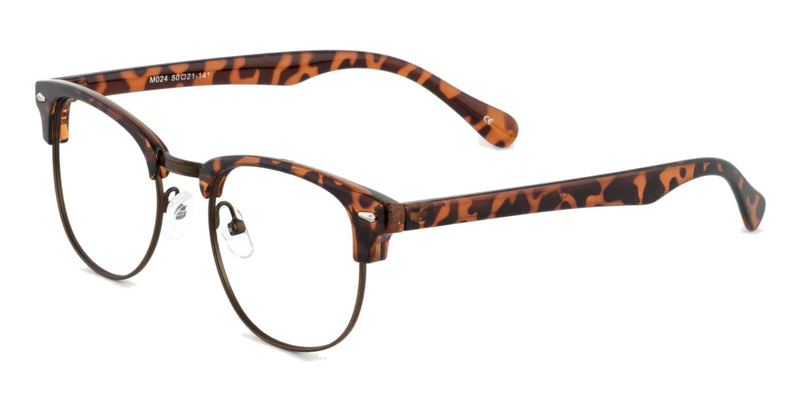 Chad Leopard Metal , Combination , Plastic Eyeglasses , NosePads Frames from ABBE Glasses