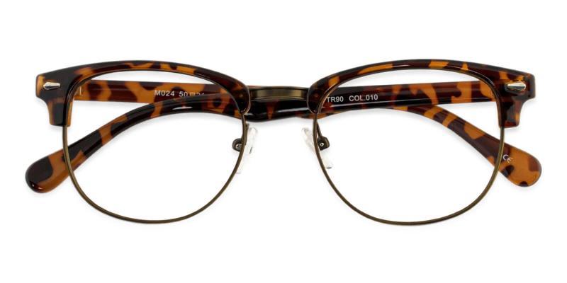 Leopard Chad - Metal , Combination , Plastic NosePads , Eyeglasses